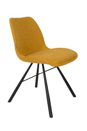 Zuiver, Brent, dizaina auduma krēsls dzeltens