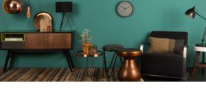 Antique copper stool, diziana galdiņs, Zuiver, Kafijas galdiņš. žurnālu galdiņš
