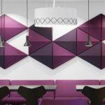 abstractaa akustiskie paneļi sienām
