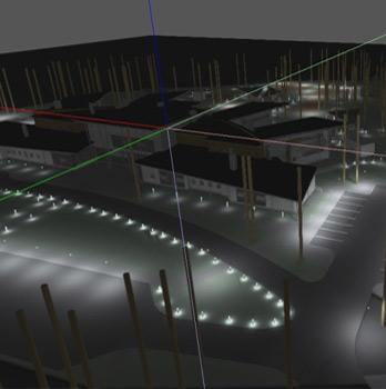 apgaismojuma dizaina projekts