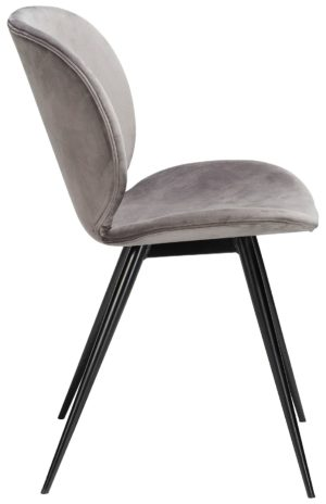 Cloud chair - aluminium velvet