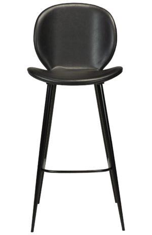 Bāra krēls. Melna ādas sēžamā daļa ar melnām metāla kājām.